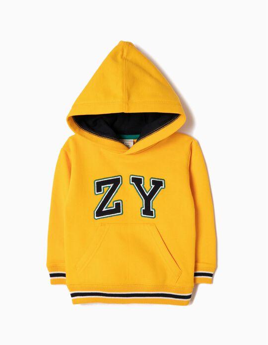 Sweatshirt com Capuz ZY Amarela