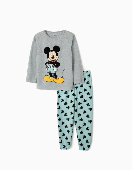 Pijama Polar para Niño 'Mickey', Gris/Azul