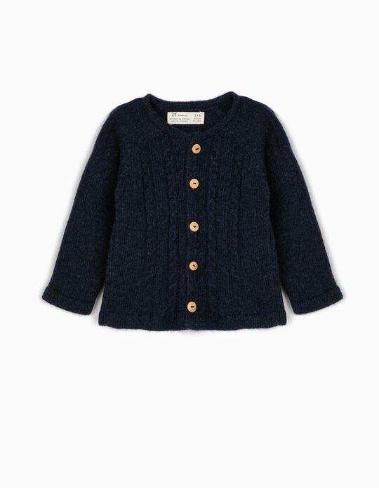 Casaco Lã Azul