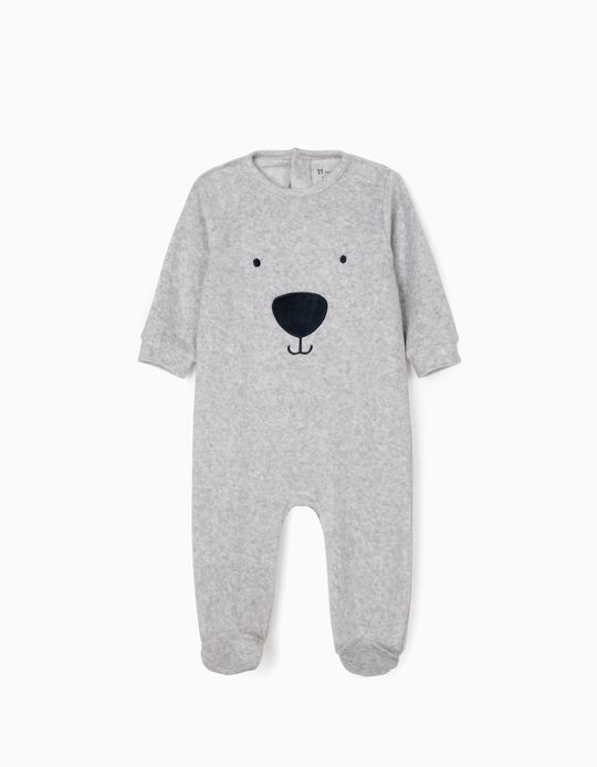 Sleepsuit for Babies 'Seal', Grey