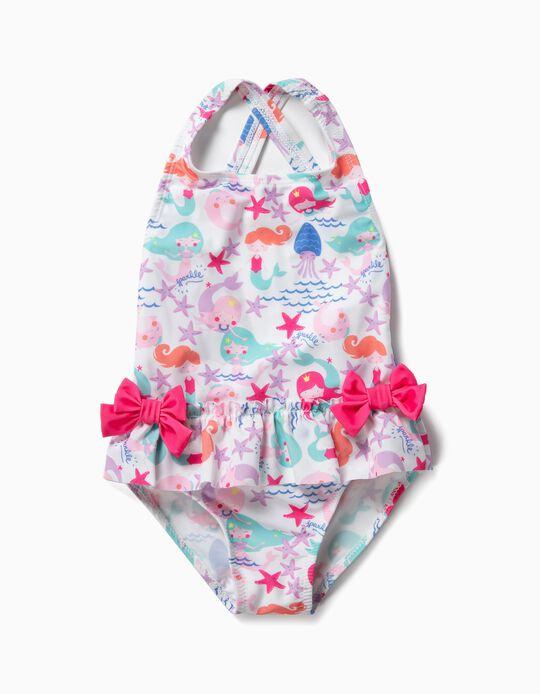 Bañador para Bebé Niña 'Mermaids', Blanco