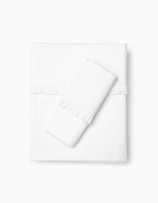 Bedding Set 120X60Cm Essential White Zy Baby