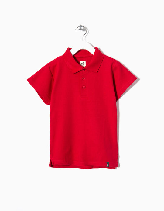 Short-sleeve Polo Shirt for Boys, Red