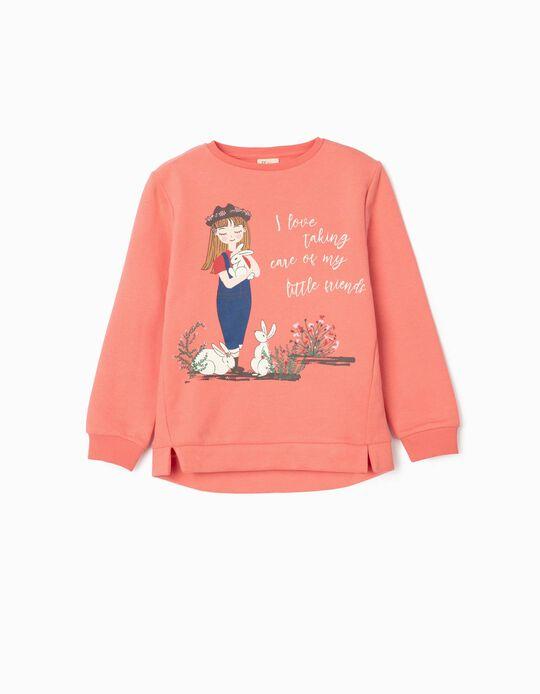 Sweatshirt para Menina 'Little Friends', Rosa