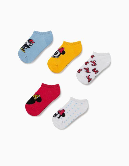 5 paires de socquettes fille 'Minnie', multicolore
