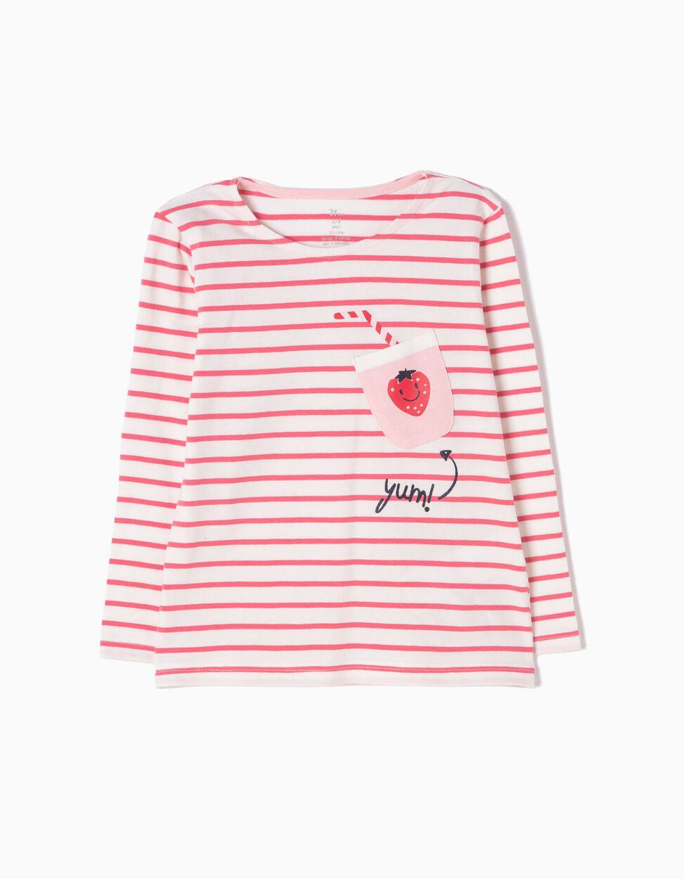 Camiseta de Manga Larga a Rayas Yum