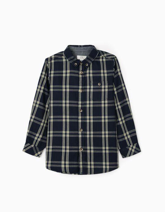 Plaid Shirt for Boys, Dark Blue