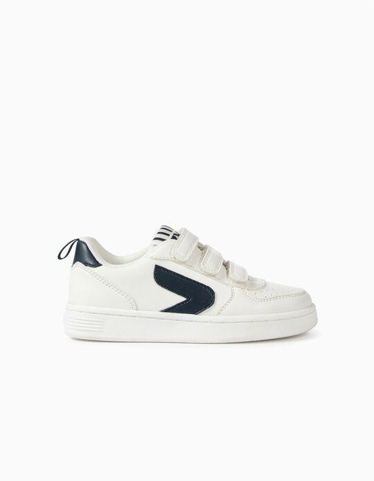 Zapatillas para Niño 'ZY', Blanco/Azul Oscuro