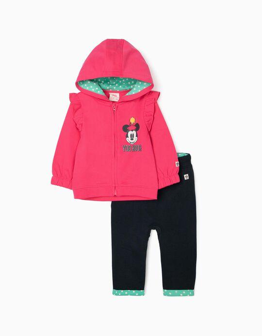 Fato de Treino para Bebé Menina 'Minnie', Rosa/Azul Escuro