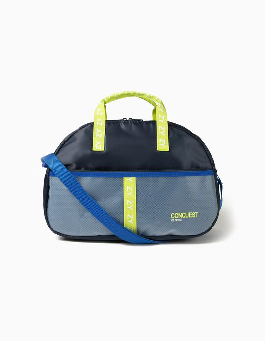 Sports Bag for Boys, 'Conquest of Space', Dark Blue