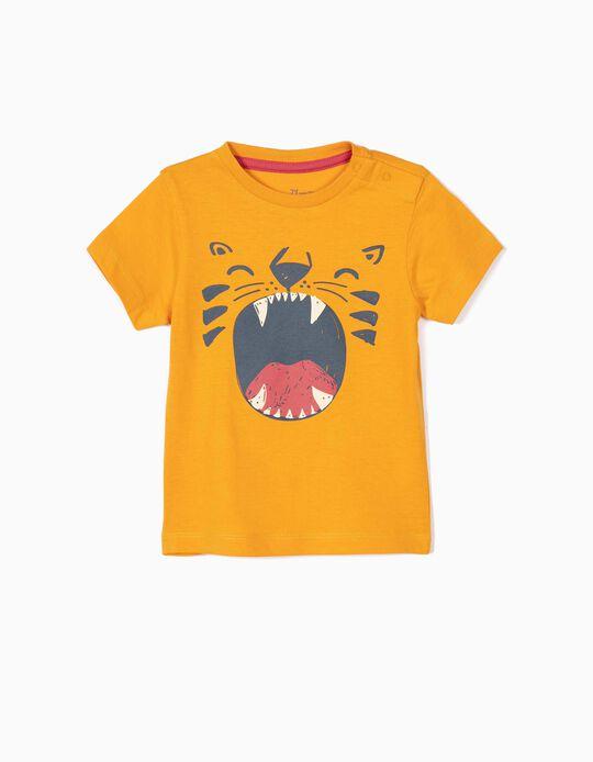 T-shirt para Bebé Menino 'Lion', Amarelo Escuro