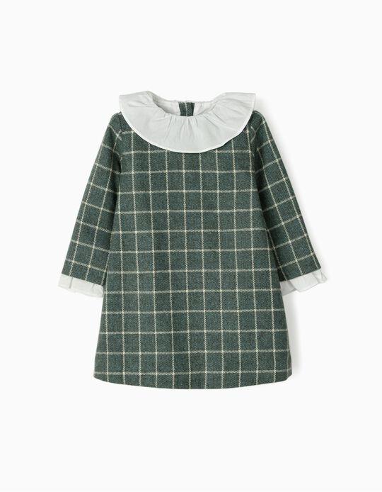 Vestido Xadrez para Bebé Menina 'B&S', Verde