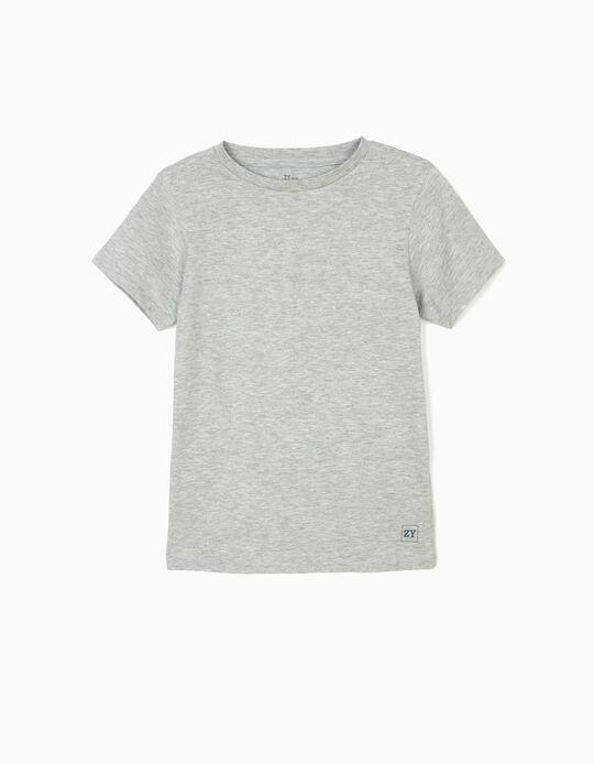 T-shirt para Menino 'ZY', Cinza