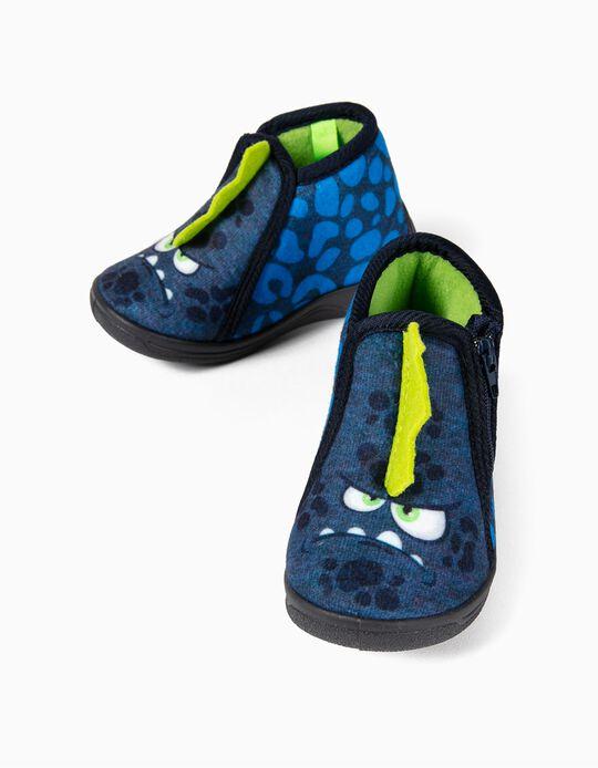 Zapatillas de Casa Beppi para Bebé Niño 'Dino', Azul
