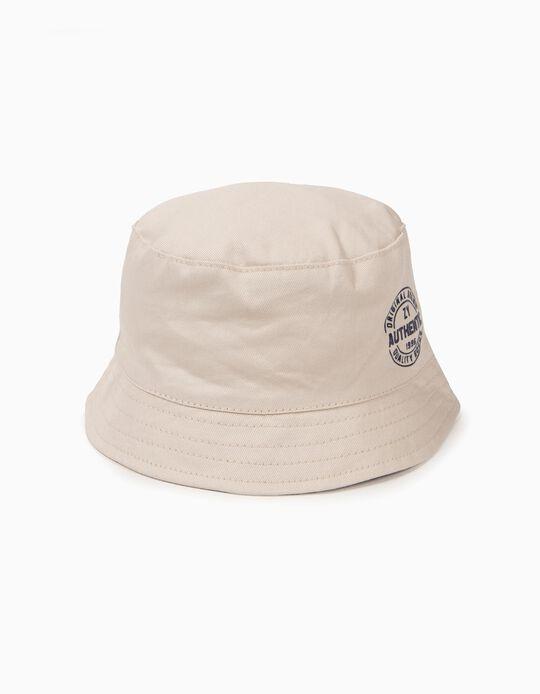 Chapéu para Menino 'ZY 1996', Bege