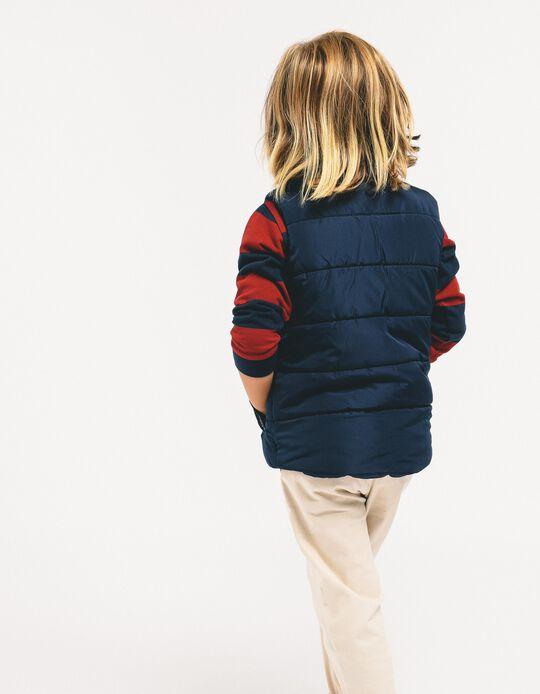 Pantalón de Sarga para Niño, Beige