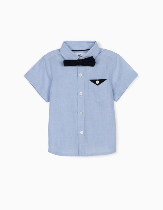 Shirt with Bow Tie for Baby Boys, Blue