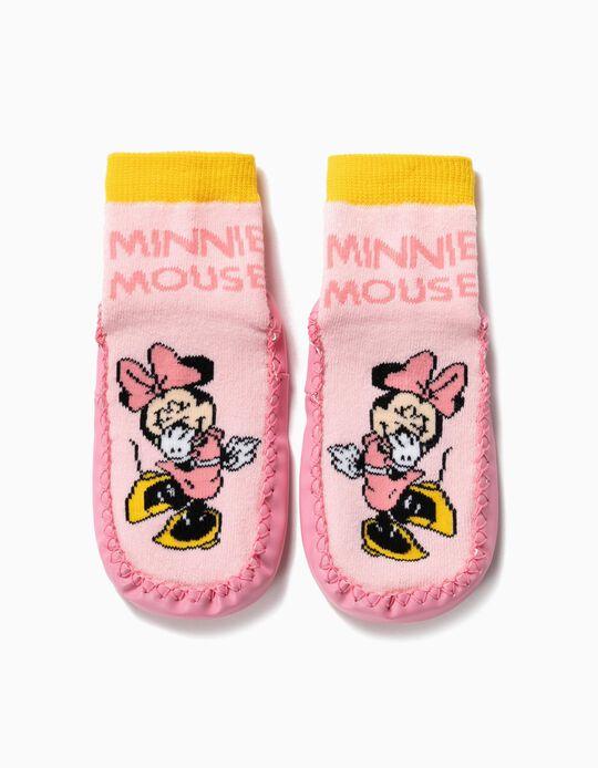 Calcetines Pantuflas Antideslizantes para Niña 'Minnie', Rosa