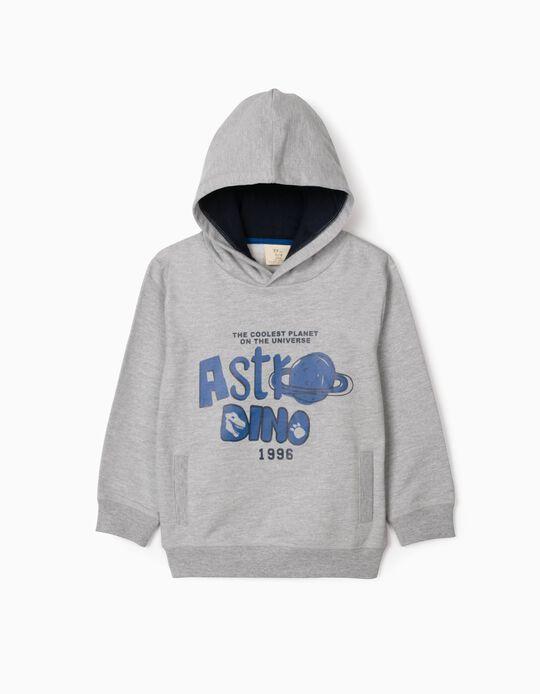 Sweatshirt com Capuz para Menino 'Astrodino', Cinza