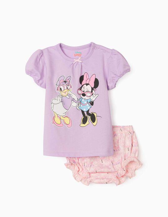 Pijama para Bebé Niña 'Minnie & Daisy', Lila/Rosa Claro