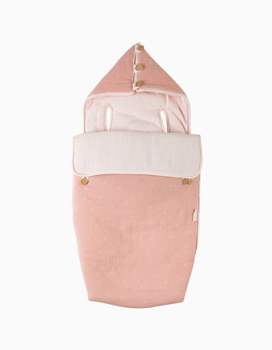 Forra Universal Para Cadeira Gr0+ Musselina Stars Pink