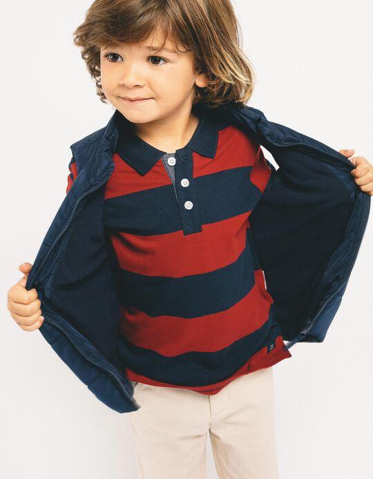 Polo para Niño a 'Rayas', Azul y Rojo