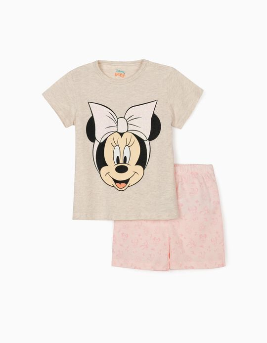 Pyjamas for Baby Girls, 'Minnie Mouse', Beige/Pink
