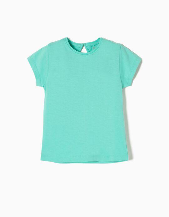Camiseta de Algodón Blue