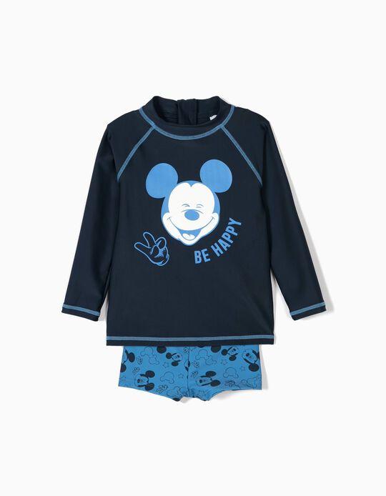 Conjunto de Banho para Bebé Menino 'Mickey' Anti-UV 80, Azul
