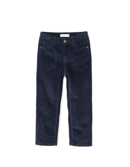 Pantalón de pana azul oscuro