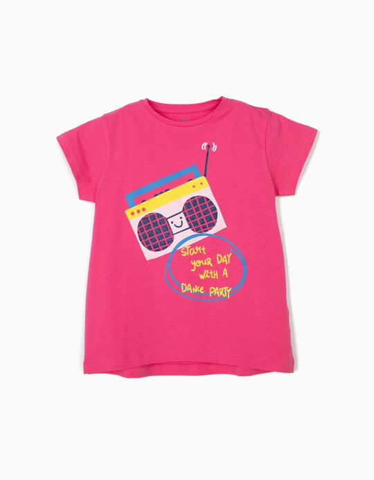 Camiseta para Niña 'Dance Party', Rosa