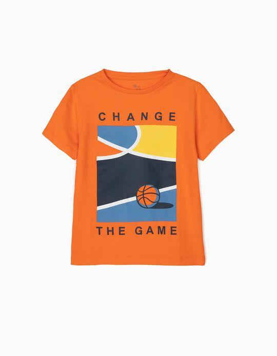 Camiseta para Niño 'Basketball', Naranja