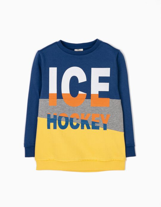 Sudadera con Bloques de Color Ice Hockey