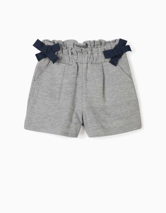 Jacquard Shorts for Baby Girls, Blue