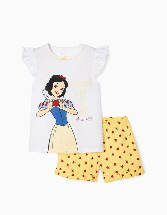 Pyjamas for Girls, 'Snow White', White/Yellow