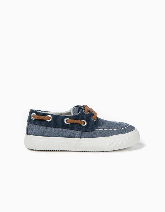 Zapatillas de Tejido para Bebé Niño, Azules