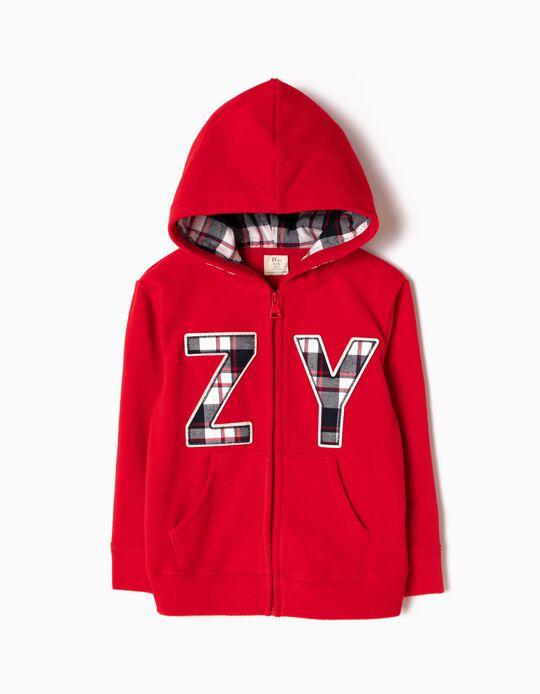Casaco Polar com Capuz ZY Vermelho