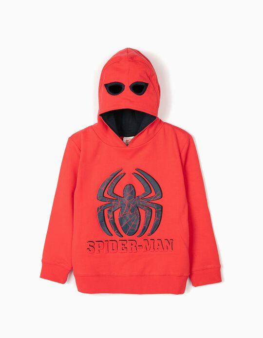 Sweatshirt com Capuz-Máscara para Menino 'Spider-Man', Vermelho