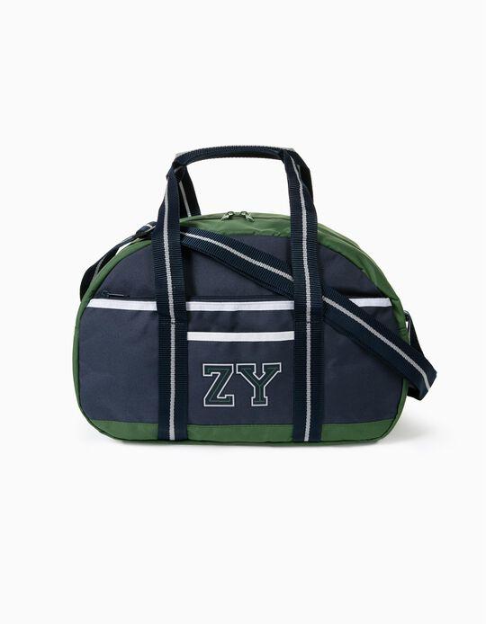 Saco de Desporto para Menino 'ZY', Verde/Azul Escuro