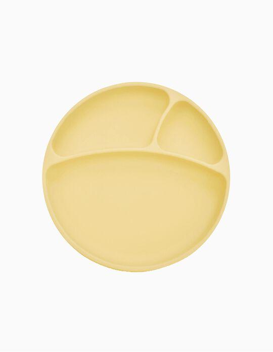 Assiette Minikoioi jaune 6M+