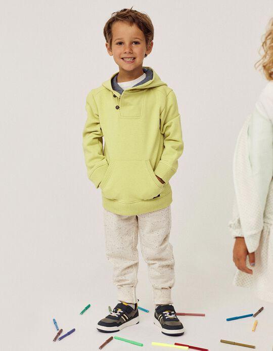 Sweatshirt com Capuz para Menino, Verde Claro