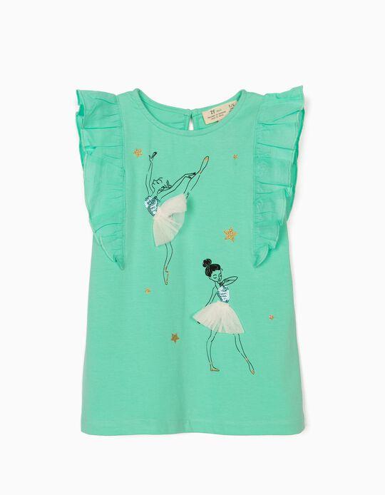 Camiseta para Niña 'Ballerinas', Verde