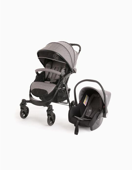 Duo Pushchair First Zy Safe, Grey