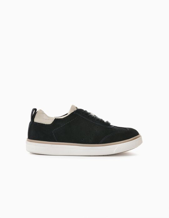 Suede Trainers for Boys, Dark Blue