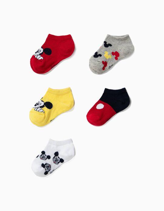 5 Pares de Calcetines Cortos para Bebé Niño 'Mickey', Multicolor