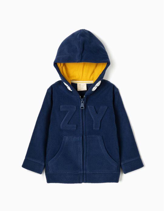 Casaco Polar para Bebé Menino 'ZY', Azul