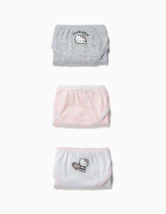 3 Cuecas para Menina 'Hello Kitty', Multicolor
