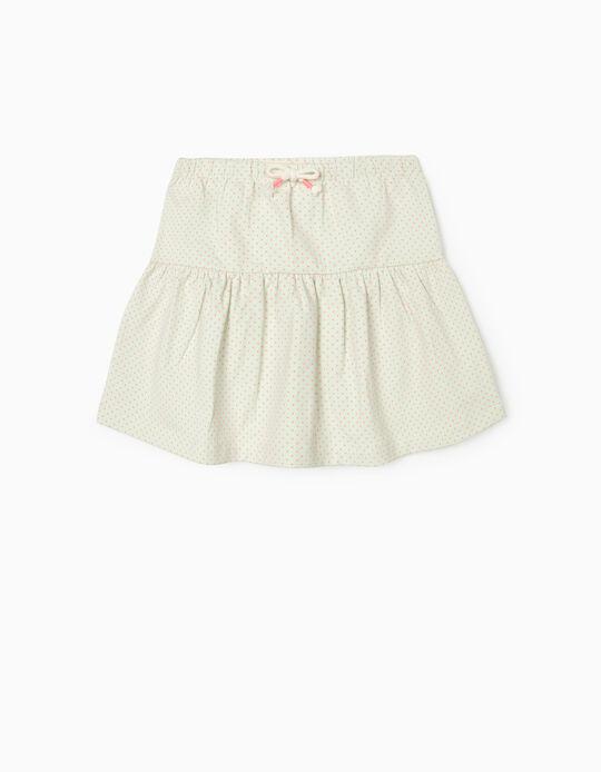 Skirt for Girls, 'Dots', Light Green/Pink