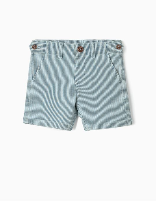 Striped Shorts for Baby Boys, Blue