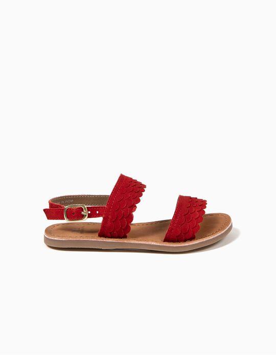 Sandálias Escamas Vermelhas